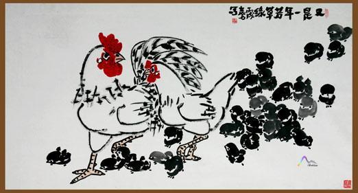 弟子袁力笔下的动物世界