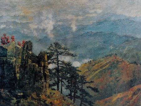 油画长于人物,风景作品体现了爱国主义和人道主义思想;作品表现了中华